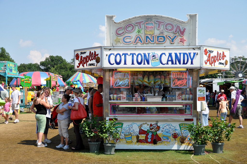 At the Cotton Candy Stand | At the Arlington County Fair ...