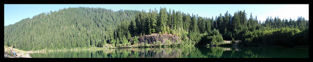 Panorama of Carmen Reservoir in Oregon 2009