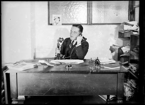 Eric Sheldon in his office | by Powerhouse Museum Collection