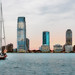 Jersey City and sailboat