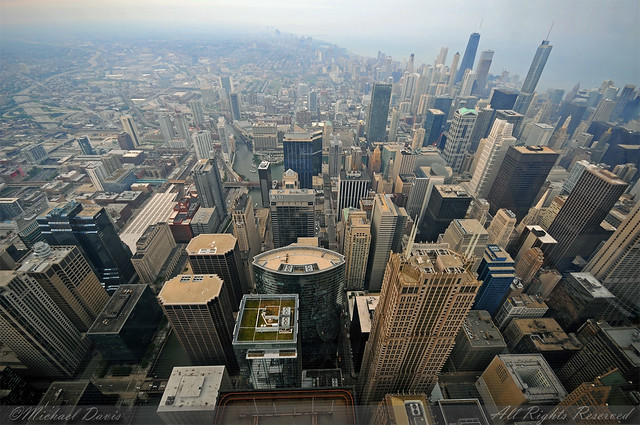 Chicago Skyline Willis Tower Skydeck As The