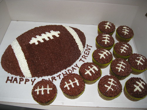 Football Themed Cupcake Cakes
