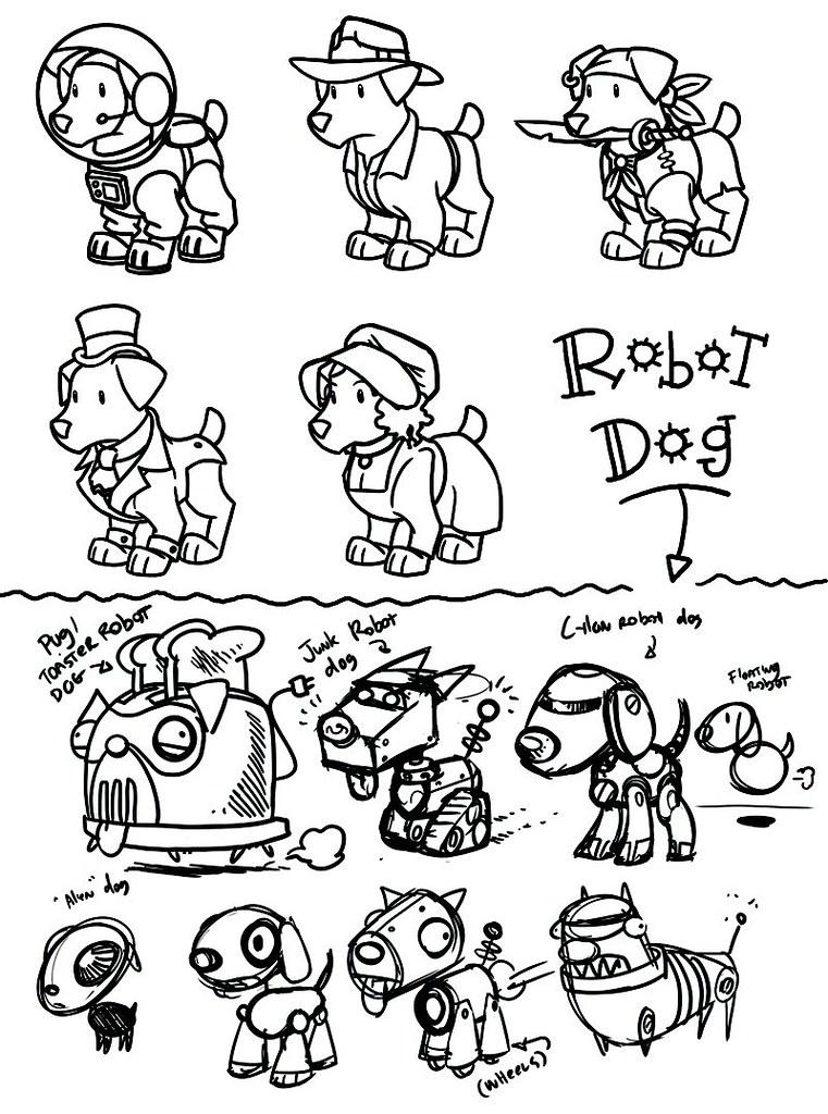 Robotic Dog Drawing Costumed/robot Dog Design