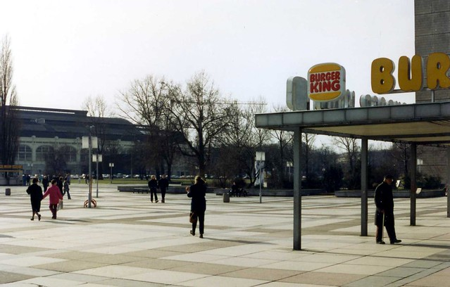burger king arrives lenin has gone dresden prager strasse march 1994 flickr photo sharing. Black Bedroom Furniture Sets. Home Design Ideas
