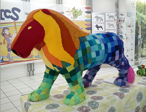 Yarn Bombed Lion | by arripay