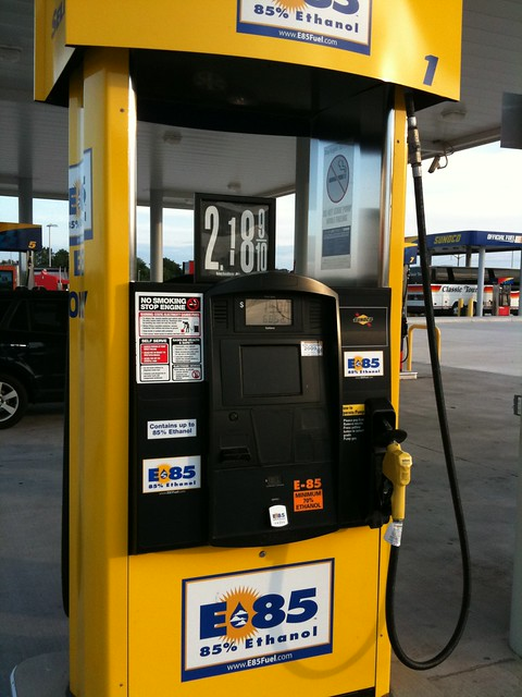 E 85 Cheap. Never seen anything but GMs that use it though.