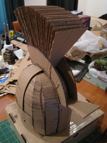 How to make a roman soldier helmet from cardboard www - Diy fa r oma ...