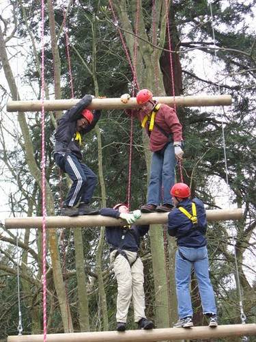 Outside Adventure Team Building Activities High Ropes Flickr
