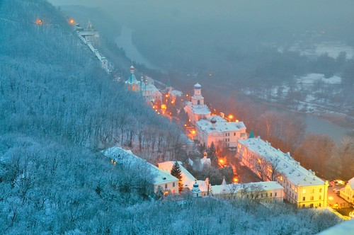 Ukraine, Donetsk district,  Sviatohirsk Cave Monastery. | by lights2008