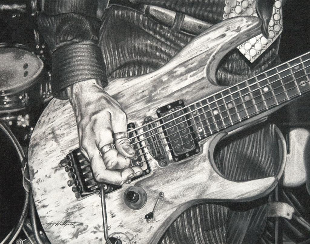 Guitar - Coloured Pencil Drawing | Megz Niittynen | Flickr