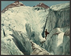 Crevasse formation in Illecillewaet Glacier, Selkirk Mountains (LOC) | by The Library of Congress