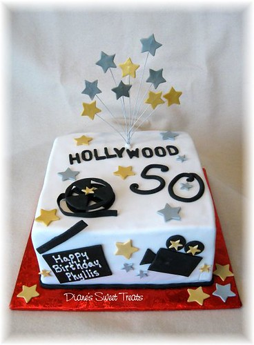 Hollywood Theme Cake For 50th Birthday Designed To Match