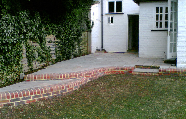 Perfect ... Thrive_Landscapes Patio With Curvy Brick Edging | By Thrive_Landscapes