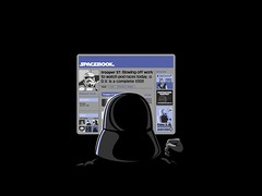 Spacebook Facebook, Storm Trooper moaning about boss Darth Vader by artist unknown | by dullhunk