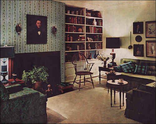1961 Mid Century Colonial Living Room The Texture And Colo Flickr