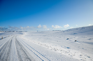 Iceland snow road | by ♥ Melancoly