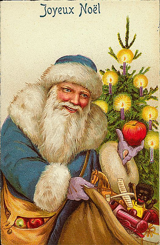 Vintage Christmas Santa Claus Postcard Free To Use In