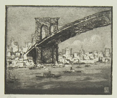 Brooklyn Bridge by Hermann Struck | by Center for Jewish History, NYC