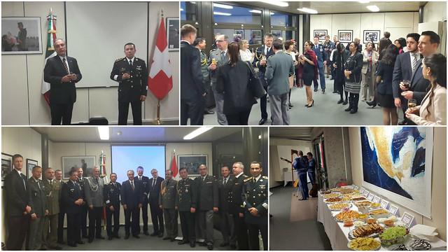 Celebración del día del ejército y de la fuerza aérea mexicana en Suiza