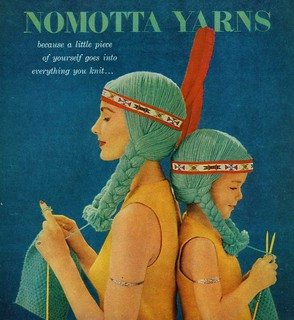 vintage nomotta yarn ad | by doe-c-doe
