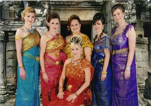 Group traditional khmer dress mj mosaics flickr for Khmer dress for wedding party