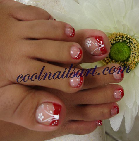Toes Design Red Floweer Art Coolnailsart Is A Webs Flickr