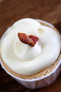 sweet corn, maple, bacon cupcake | by chockylit