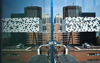 OCAD college reflection in AGO building | by Samantha_Tan