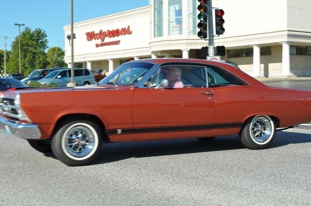 1966 Ford Fairlane Gt Hardtop In Traffic In St Louis