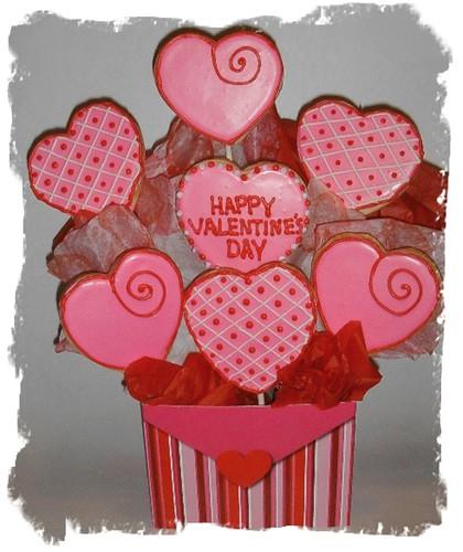 Valentines Day Cookie Bouquet