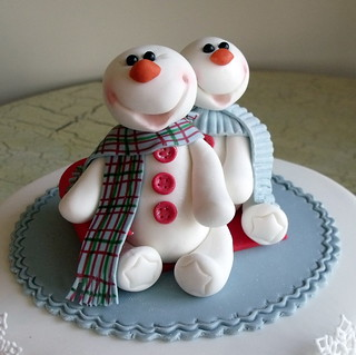 Mr and Mrs Snowman | by Signature SugarArt