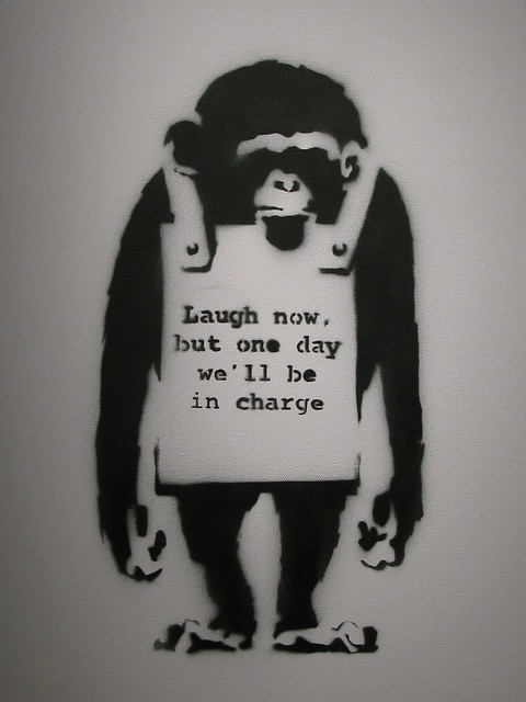 banksy laugh now flickr photo sharing