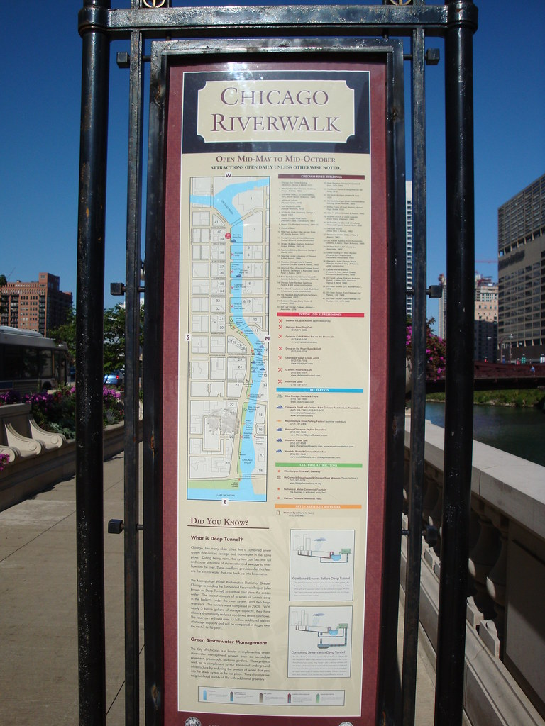 Riverwalk Chicago Map.Chicago Riverwalk Map The Map Holds The Promise Of One Day Flickr