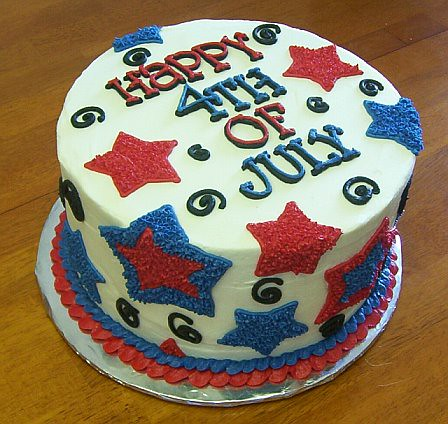 Red White And Blue Cake For Th Of July
