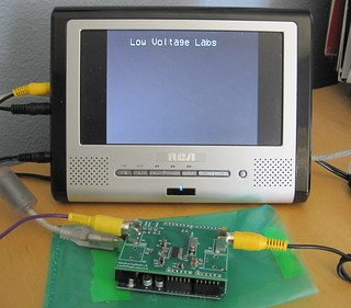 VideoOverlayShield v.0 displaying text | by Low Voltage Labs