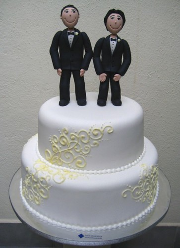 gay wedding cakes wedding cake two guys decided to celebrate their 4458