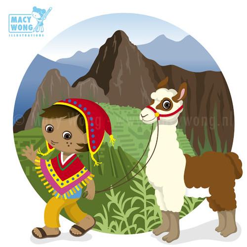 world peru boy and his pet llama at the machu picchu in mobile victoria's secret mobile victory polaris mobile al