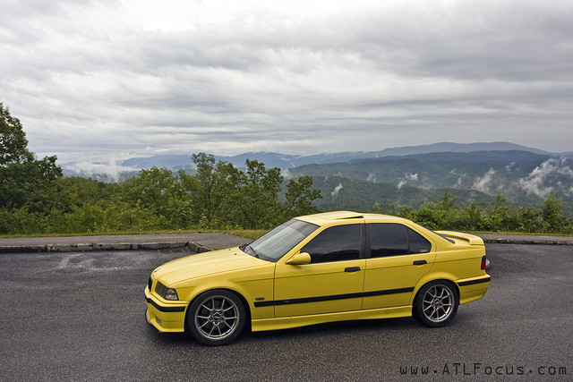 Bmw E36 M3 Sedan Dakar Yellow Bbs Rk Rolling Foothills Parkway The Dragon 3 Flickr Photo