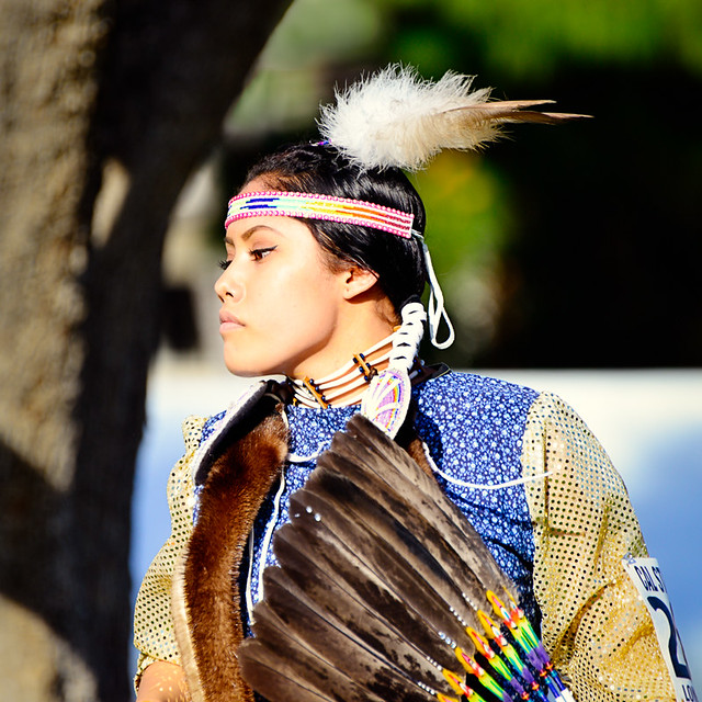 beautiful native american indian girl 44th annual powwow