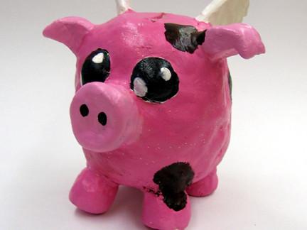 Flying Pig Clay Piggy Bank Clay Piggy Banks Grades 7