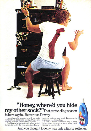 Vintage Ad #865: Honey, where'd you hide my other sock? | by jbcurio