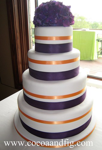 4-Tiered Wedding Cake | by cocoa & fig