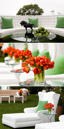 Orange Tulip Centerpiece | by camillestyles