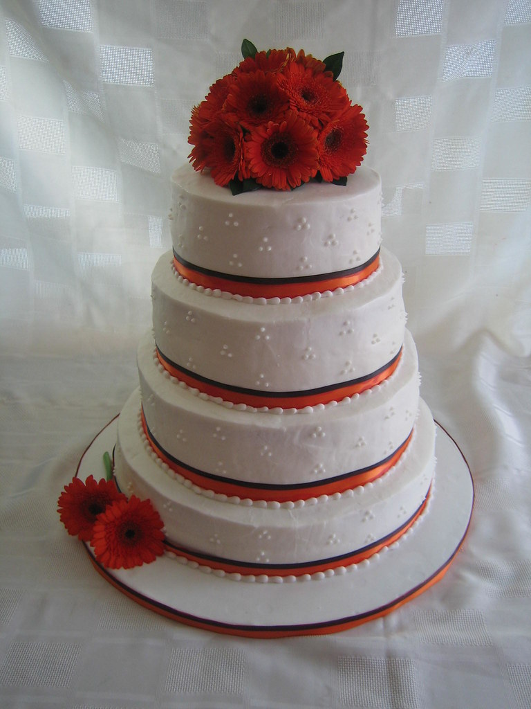 Orange Wedding Cake Pictures