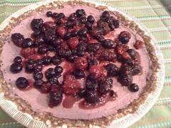 mixed berry cream pie-raw, vegan and delicious! | by sass_face