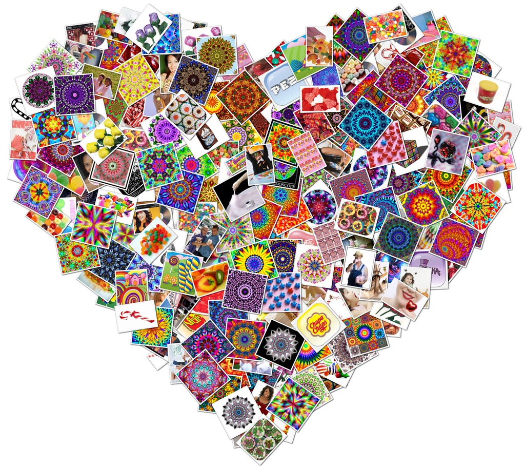 Heart collage most of the images used in this collage - Collage de fotos para pared ...