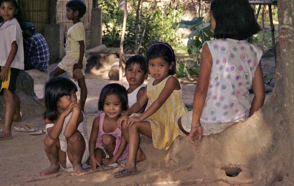 Children Aninoa Village Mindoro Philippines Aninoa