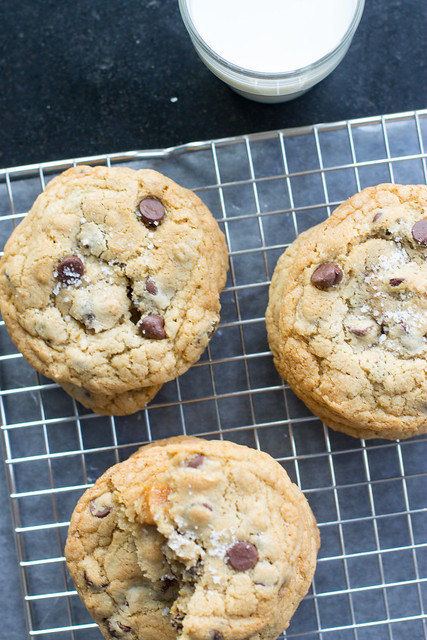 Salted caramel chocolate chip cookies - a match made in heaven!