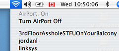 Confrontation via Wireless Network name | by passiveaggressivenotes