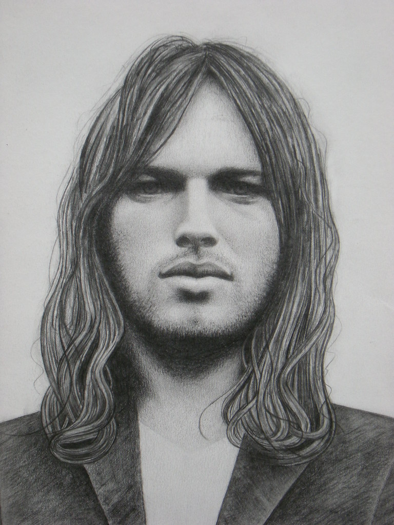 David Gilmour Pencil Drawing By Howard Wiseman 2009 Flickr